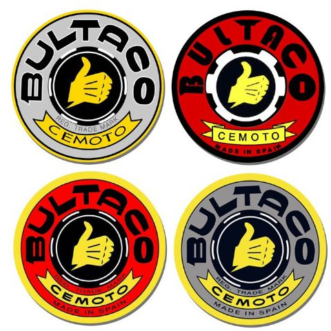 Bultaco Motorcycle Logo Drinks Coasters Set Of 4. Classic Bike Coasters